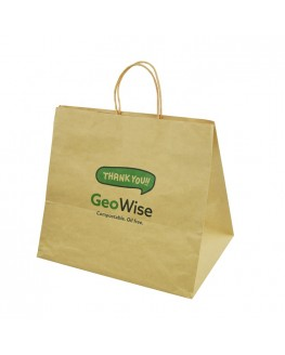 Custom Logo Paper Kraft Shopping Bags with Handle