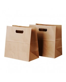 Take away brown paper bag for lunch