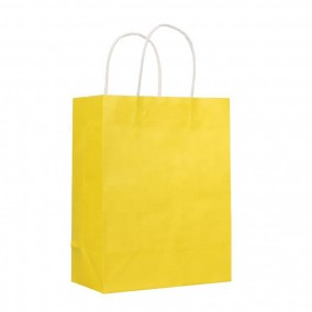 Wholesale yellow gift paper bag for shopping